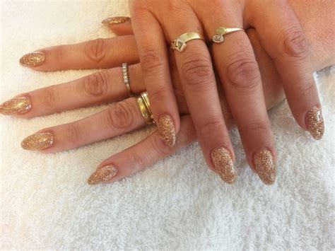 Glitter Nagels by Glitter Gold Gel Nails Shilly Care