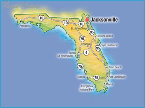 jacksonville map jacksonville map travelsfinders