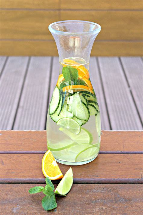 Detox Water Lemon Mint Cucumber Orange Lime by 25 Fruit Infused Water Recipes