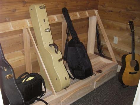 Building A Guitar Rack System by Lote Wood Guitar Storage Rack Plans Diy