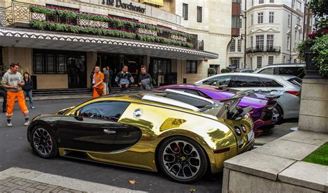 golden super cars lamborghini bugatti veyron super sport