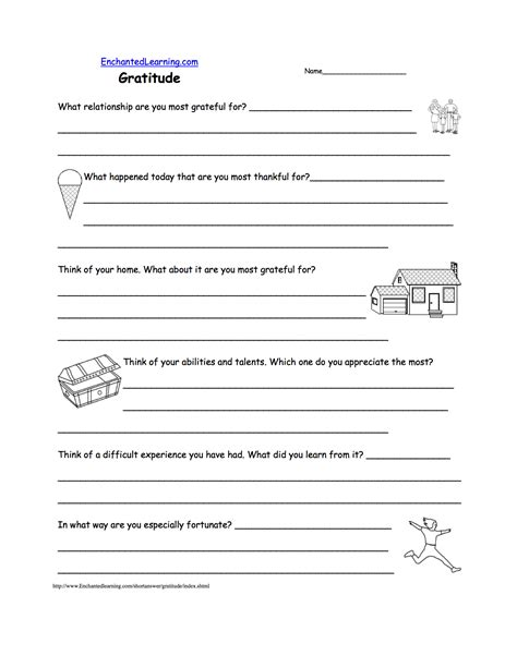 Gratitude Worksheets by Feelings And Emotions At Enchantedlearning