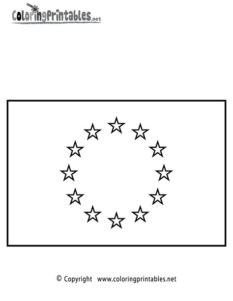 Eu Flag Coloring Page | european union flag coloring page a free travel coloring