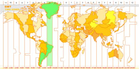 Brazil Time Zone Map by Gmt Greenwich Mean Time Brasilia Brazil Time Zone Brasilia