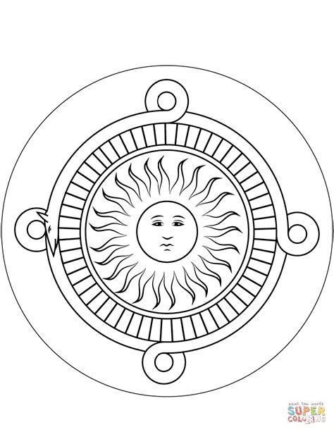 aztec coloring pages aztec calendar coloring page free printable