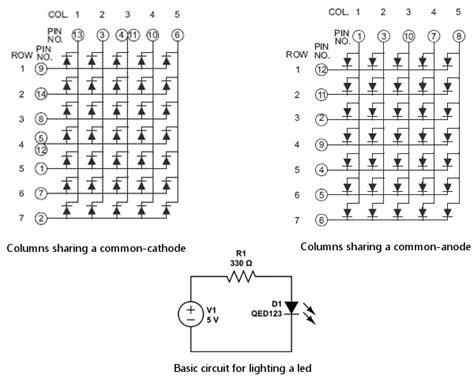 led cathode wiki interfacing dot matrix array with arduino