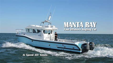 manta ray boat off shore angling boat manta ray travelling at 40 knots