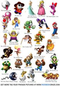 super mario game characters free taggable pic tag craze