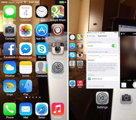 camera wallpaper jailbreak augmented tweak uses live camera feed to replace your ios