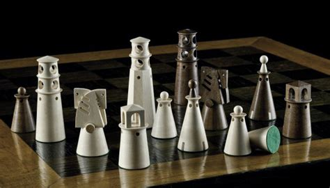 futuristic chess set noj ltd woodturnery