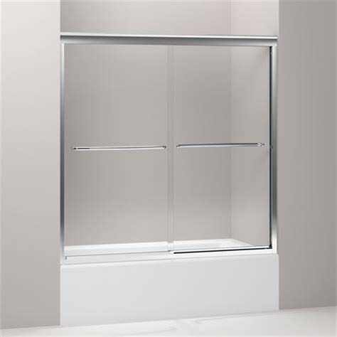 Kohler Frameless Sliding Shower Doors Kohler K 702200 L Fluence 58 5 16 Frameless Sliding Bath Door With Clear Glass