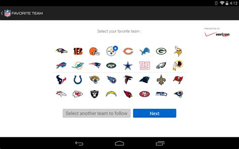 verizon nfl mobile app nfl home page