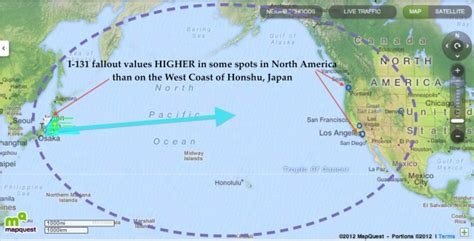map of the united states and japan radiation fallout maps for the united states allegedly