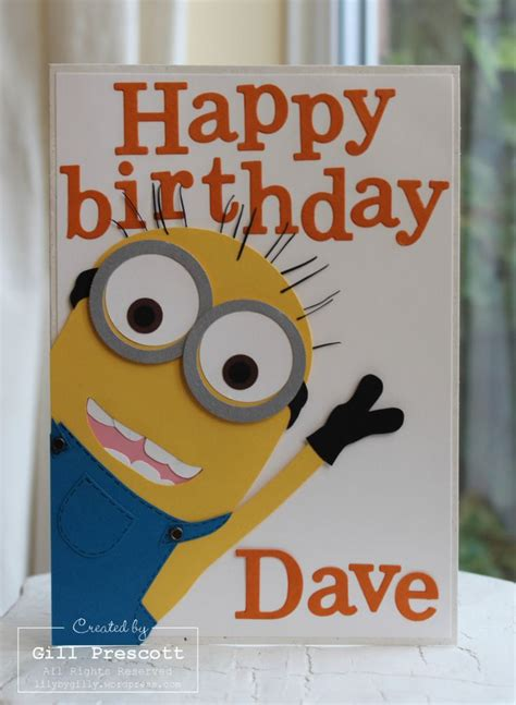Minions Happy Birthday Card Minion Birthday Card Happy Birthday Pinterest