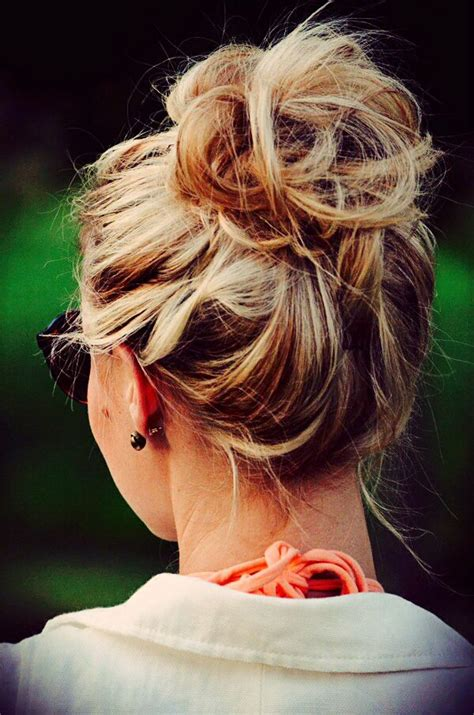 casual hairstyles buns messy bun love on casual days home from school just