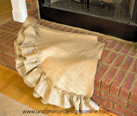 pattern burlap christmas tree skirt no sew tree skirt tutorial uncommon designs