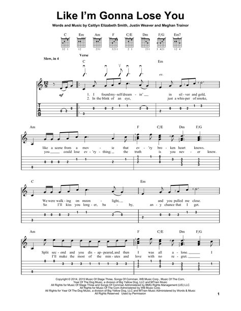 download mp3 free like i m gonna lose you like i m gonna lose you sheet music by meghan trainor