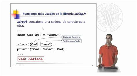 libreria string h funciones m 225 s habituales de librer 237 a string h 169 upv