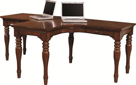 t desk for two aspenhome villager dual t desk with 2 drawers and 4 ac