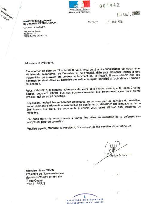 Exemple Lettre Remerciement Ministre Alerte 233 Thique Guerre Du Golfe 1991 Lettre 224 Christian Sautter