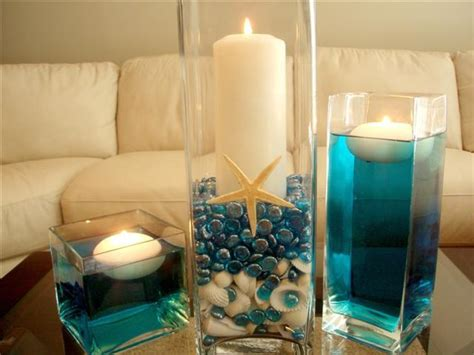 Coffee Table Flower Arrangements by Beach Themed Floating Candles Wedding Centerpieces