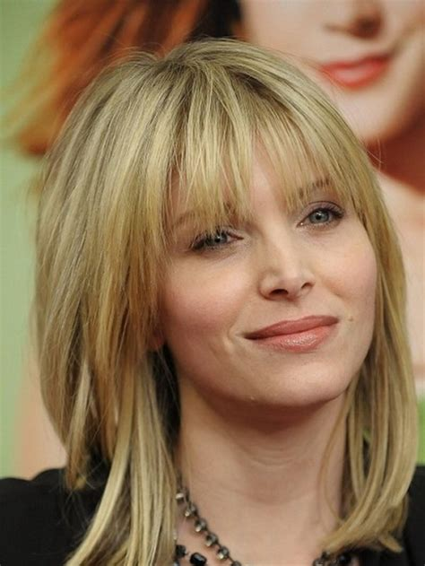 hairstyles with fringe mid length medium haircuts with fringe