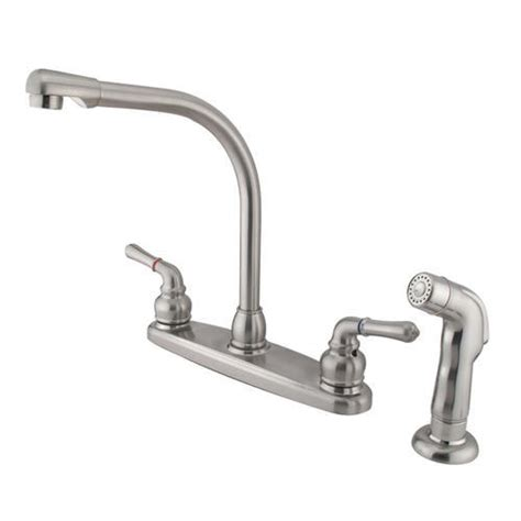 high arch kitchen faucet kingston brass magellan high arch kitchen faucet at menards 174