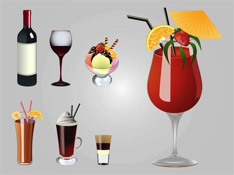 cocktail svg drinks vectors vector art graphics freevector com