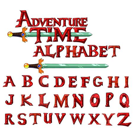 Adventure time alphabet PSD styles   Other PSD free download
