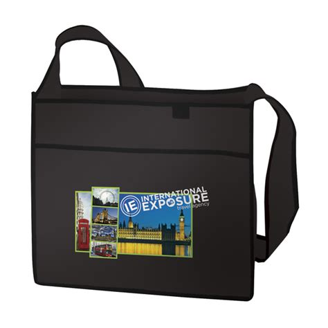 color transfer imprinted esprit tradeshow tote full color transfer