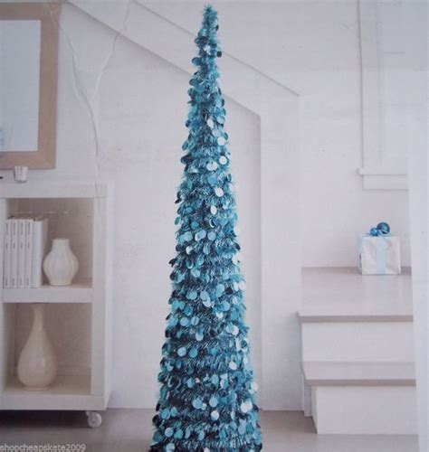 collapsible tinsel tree 5 ft 5 ft collapsible tinsel artificial tree turquoise frozen trees