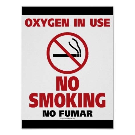 no smoking oxygen in use sign r5400 by safetysign com no smoking poster oxygen in use zazzle