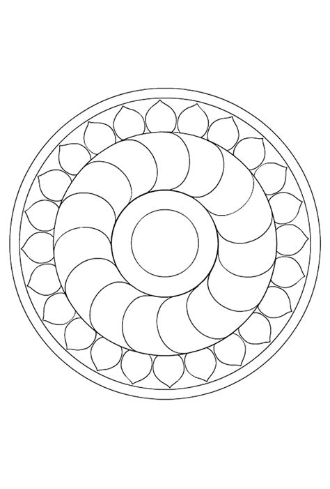 Circelbloem Mandala Mandala Circles Coloring Pages