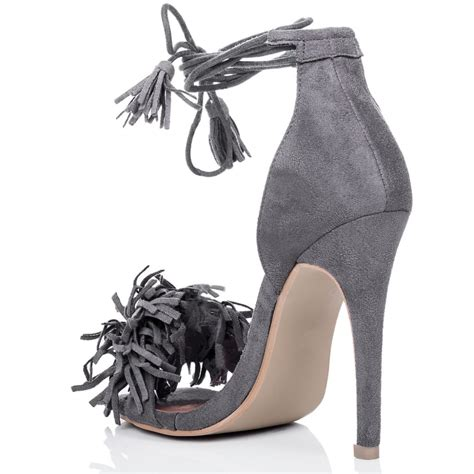 grey suede high heel shoes nnine grey sandals shoes from spylovebuy