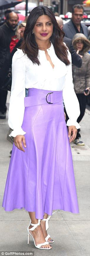how should a 34 year old dress priyanka chopra wears two different looks in new york city