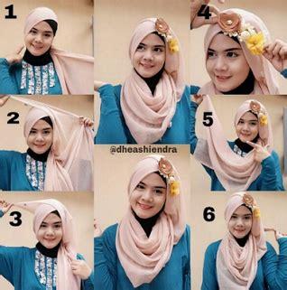 tutorial jilbab headband cara praktis memakai jilbab dengan hiasan headband