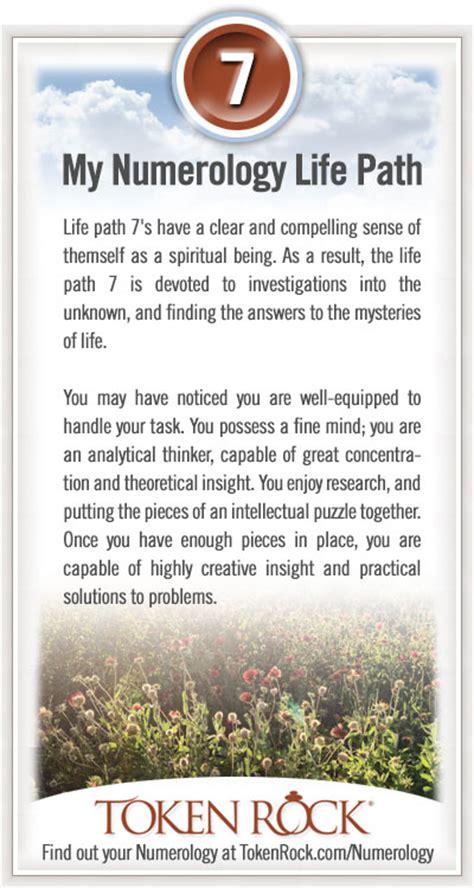 life path 7 characteristics at tokenrock