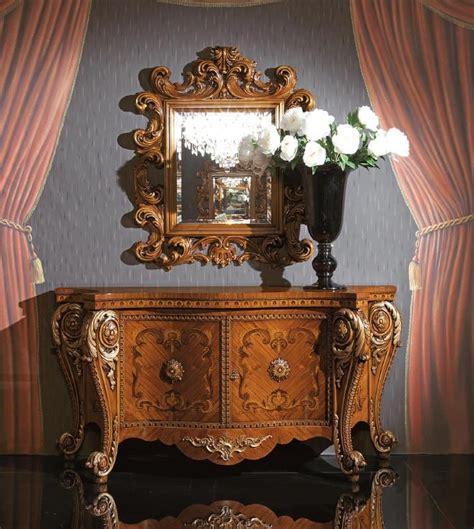 credenze classiche di lusso credenza di lusso in legno con intarsi artigianali
