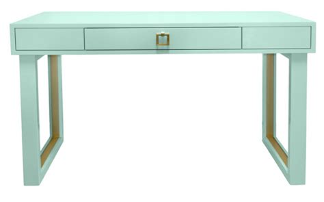 aqua blue desk accessories best modern home office desks design theory interiors of