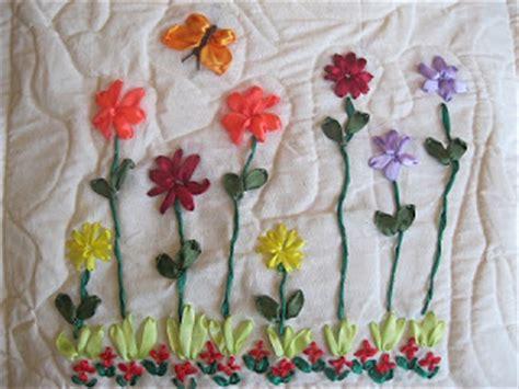 sarung bantal kursi pita kecil rumah sulam pita sarung bantal motif bunga kecil sulam pita