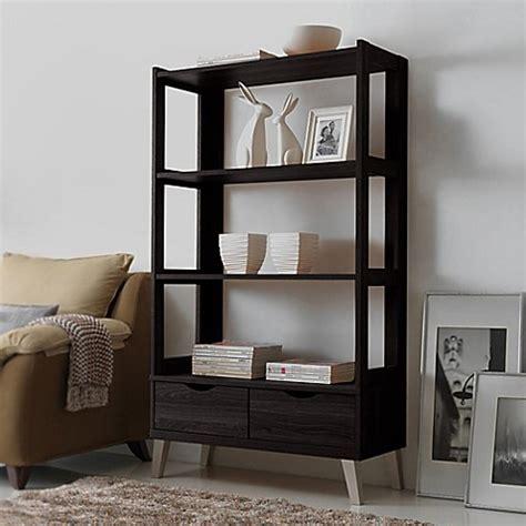 baxton studio lindo bookcase baxton studio kalien bookcase in dark brown bed bath