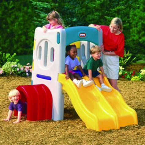 little tikes slide swing combo double tunnel slide best educational infant toys stores