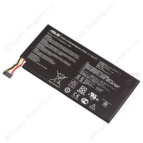 Asus Nexus 7 Battery Replacement by Asus Nexus 7 Tablet Battery 4325 Mah Etrade Supply