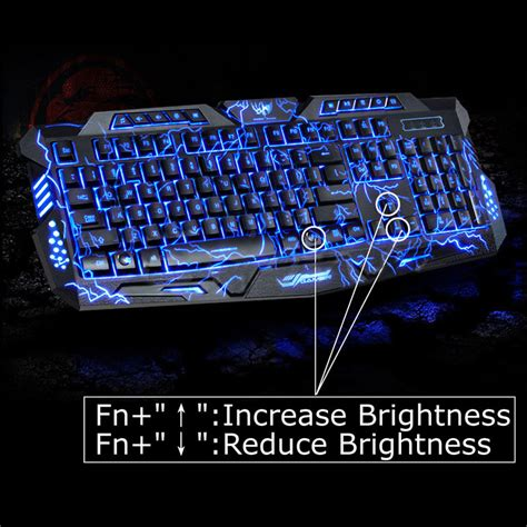 Keyboard Gamer Usb Wired With Led Backlight M 200 version waterproof backlight led professional gaming keyboard m200 usb wired powered