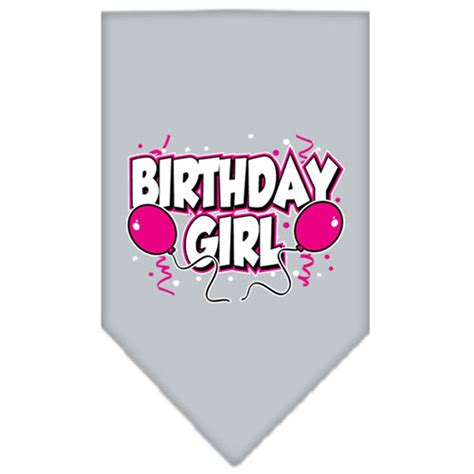 birthday bandana birthday screen print bandana gray baxterboo