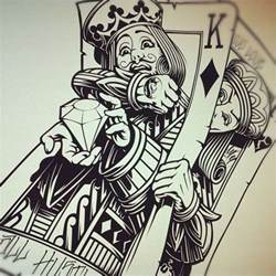 king and queen card tattoo designs wesharepics