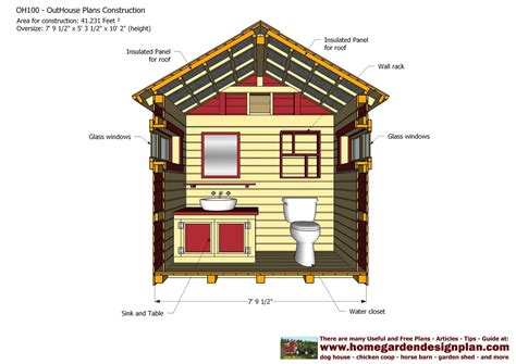 outhouse floor plans home garden plans oh100 out house plans construction