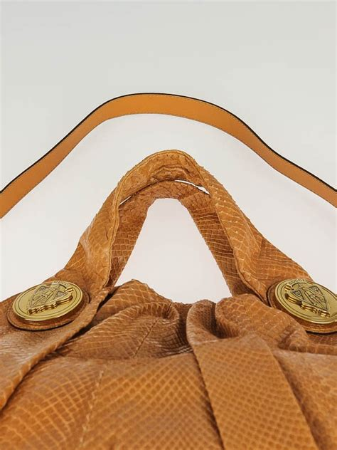 Gucci Hysteria Large Top Handle Bag In Python by Gucci Beige Python Hearts Unicef Hysteria Large Top