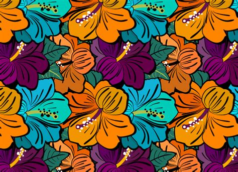 hawaiian pattern cdr very flowery patterns ai svg eps vector free download