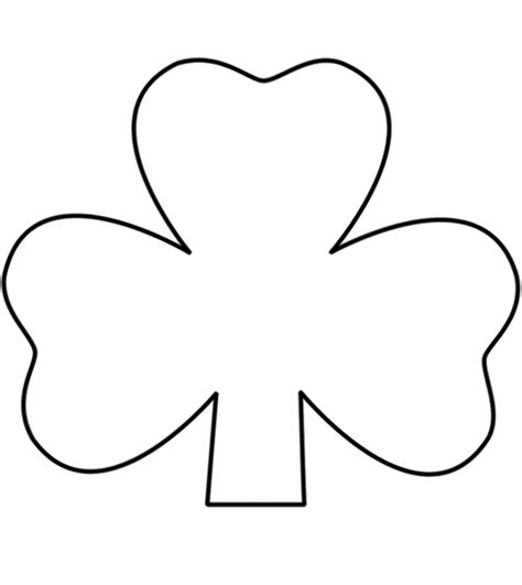 shamrock art coloring page clover clipart printable pencil and in color clover